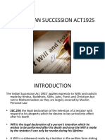 Will Under Indian Succession Act