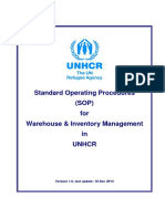 Annex F_SOP for Warehouse and Inventory Management in UNHCR