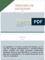 El Principio de Legalidad