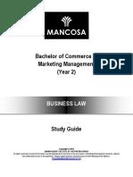 BCOM Marketing Management year 2