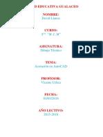 Acotaciones en AutoCAD D4V1D 114N05