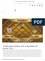 Prediksi Bola Athletic Club vs Real Betis 28 Januari 2019 _ Liga Spanyol