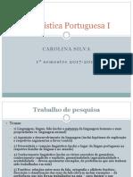 LinguísticaPortuguesaI-Trabalho de Pesquisa Em Grupo