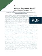 Synopsys VCS IP Block Verification Ieee 1149-1-2013