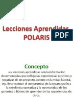LA Polaris Leccion Aprendida