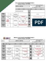Foundation Timetable 2017