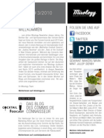 Mixology Newsletter #3 2010