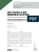 Arte y Politica El Artemendocino de Los 70