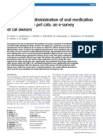 Difficulties in Administration of Oral Medication to Pet Cats