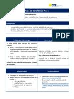 Guía didáctica proyectos