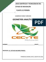 Cuaderno de Trabajo Geometría Analítica