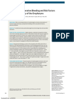 Analysis of Postoperative Bleeding and Risk Factors in Transoral Surgery of the Oropharynx