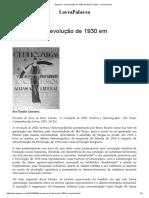 Resenha_ a Revolução de 1930 Em Boris Fausto – LavraPalavra