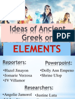 Ideas of Ancient Greek On