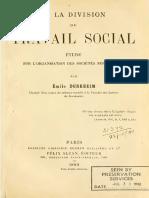 Durkheim Division 1er