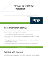 Code of Ethics in Teaching Profession