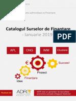 Catalog Surse Finantare Nr 16