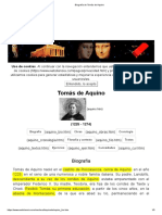 Biografía de Tomás de Aquino