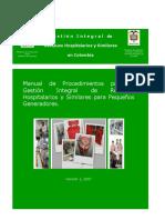 GUIA - MANUAL - Gestión Integral de Residuos Hospitalarios y Similares