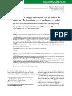 Factores de riesgo asociados al trastorno de deficit de atencion
