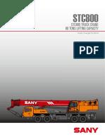 2. Tabla de Capacidades Sany Stc-800s
