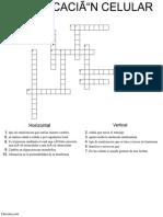 Crucugrama Comunicación Celular