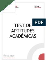 Test de Aptitudes Academicas - Esp