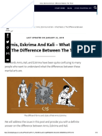 Arnis, Eskrima and Kali - Difference Between the Three