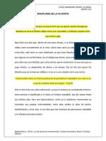 Disciplinas de La Filosofía.