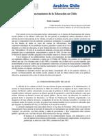Financiamiento de La Educacion en Chile