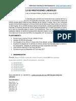 Ejercicio Calculo de Prestaciones Laborales Contanic