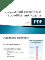 Diagnosticul Paraclinic Al Spondilitei Ankilozante