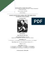 Osservazioni sull'opera per chitarra sola di Heitor Villa Lobos - Andrea Dieci