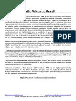 União Wicca Do Brasil - Quem Somos, Participações Atuais e Premiações