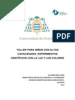 TALLER PARA NIÑOS CON ALTAS CAPACIDADES