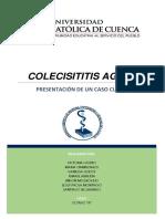 Colecistitis Aguda Caso