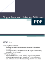Biographical and Historical Criticism