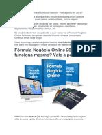 Curso Fórmula Negócio Online Download
