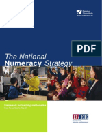 The National Numeracy Strategy DFEE