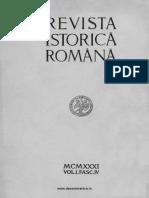 Revista istorică română, vol. 01, fasc. 4, 1931