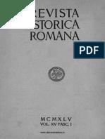 Revista istorică română, vol. 15, fasc. 1, 1945