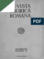 Revista istorică română, vol. 09, 1939
