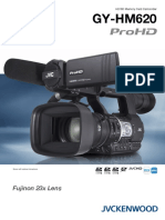 GY-HM620 ProHD Camcorder (12-page brochure)