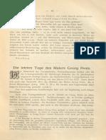 1896-Die Letzten Tage Des Malers Georg Pentz (a. Bauch)