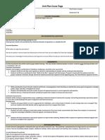 q3 unit plan cover page