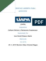 Tarea 2 de Cultura Folclore y Patrimonio Dominicano