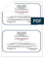 Certificate Convocation