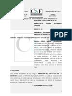Absuelve Traslado de Demanda Faccion de Inventarios - Maria Cruz Jara