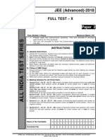 Aits 2017-18 Full Test 10 Paper 2 Jee Adv