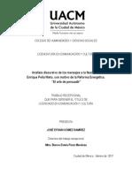 Análisis Discursivo de Los Mensajes a La Nación de Enrique Peña Nieto, Con Motivo de La Reforma Enérgetica. El Arte de Persuadir